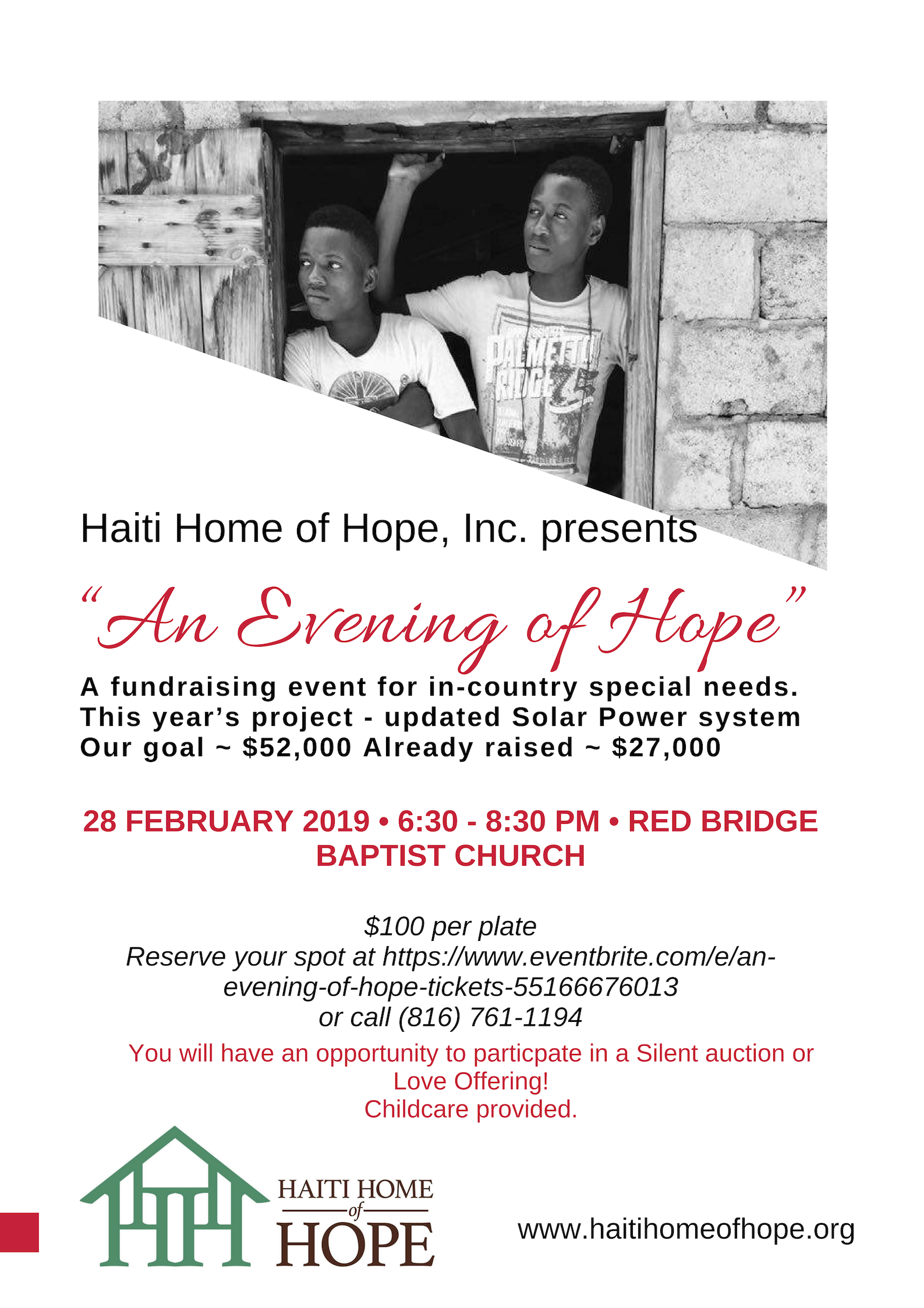 An Evening of Hope – Haiti Home of Hope